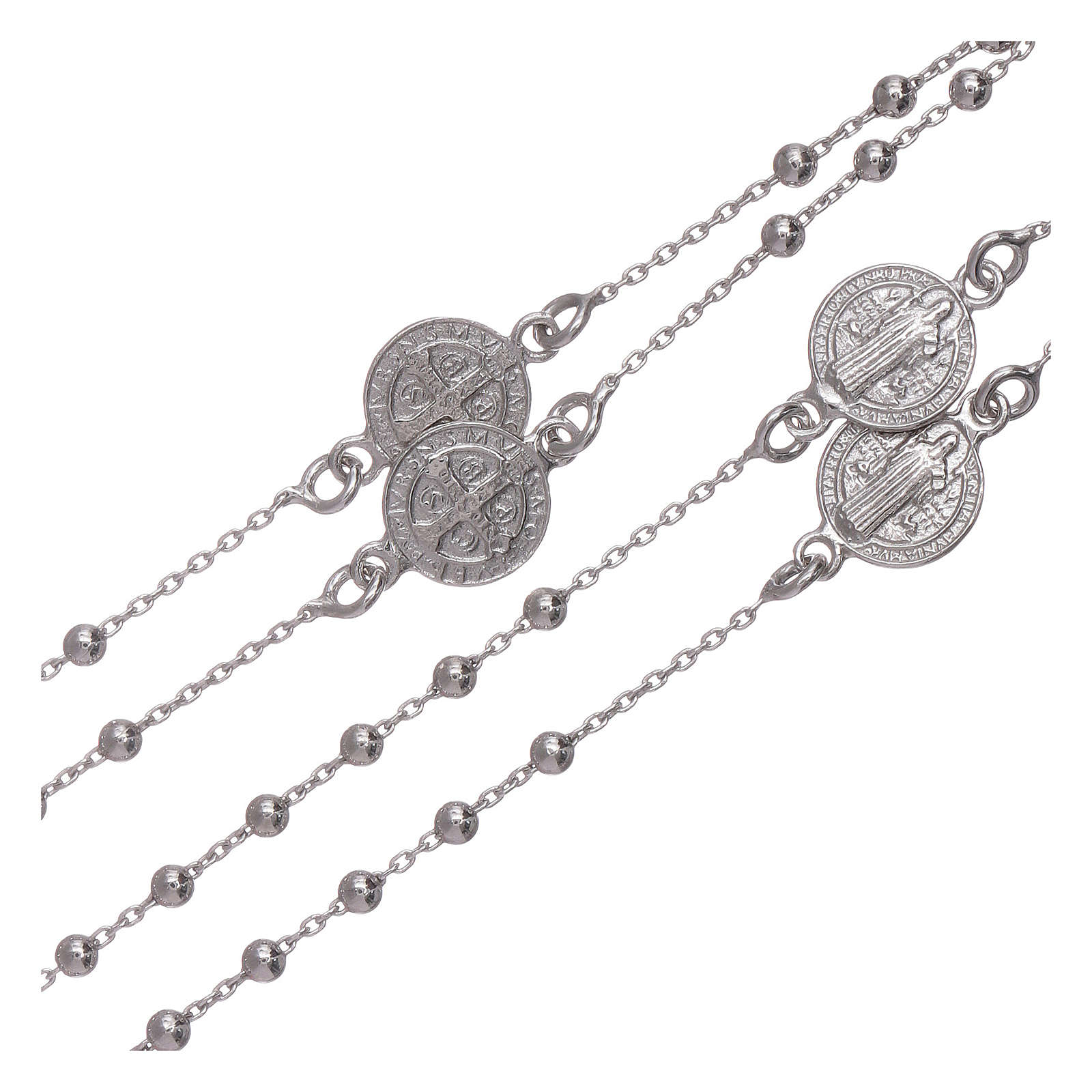 Classic rosary AMEN in 925 sterling silver Saint Benedict 4