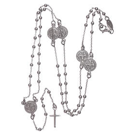 Classic rosary AMEN in 925 sterling silver Saint Benedict s4