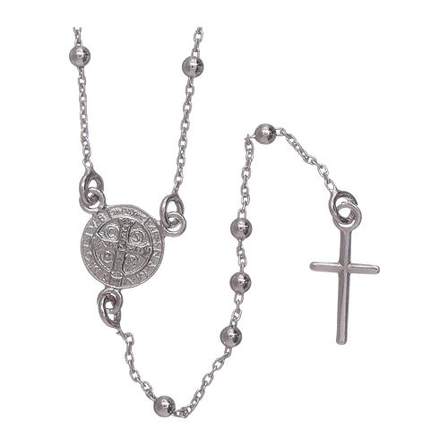 Classic rosary AMEN in 925 sterling silver Saint Benedict 2