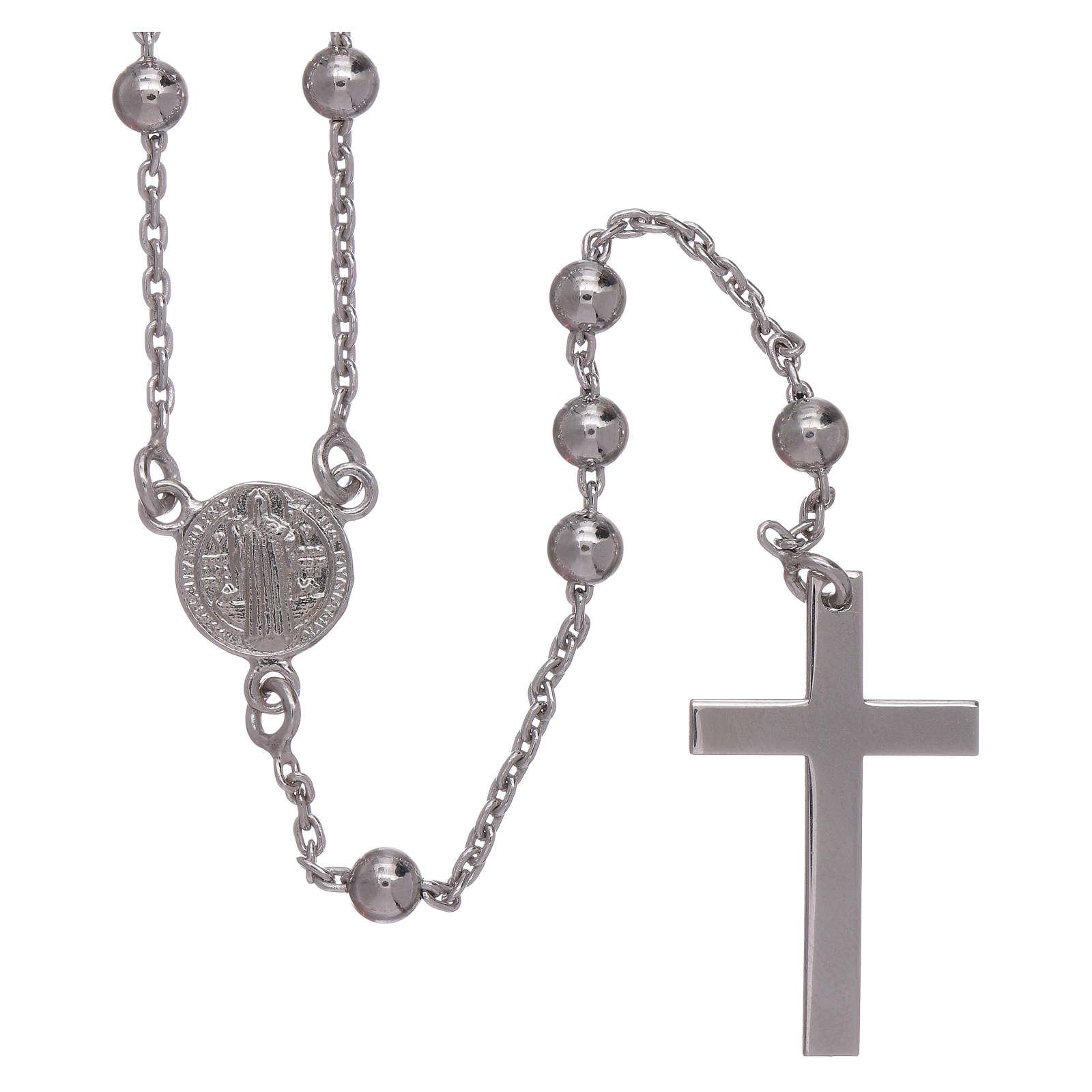 Chapelet classique Saint Benoît argent 925 grains 3 mm AMEN 4