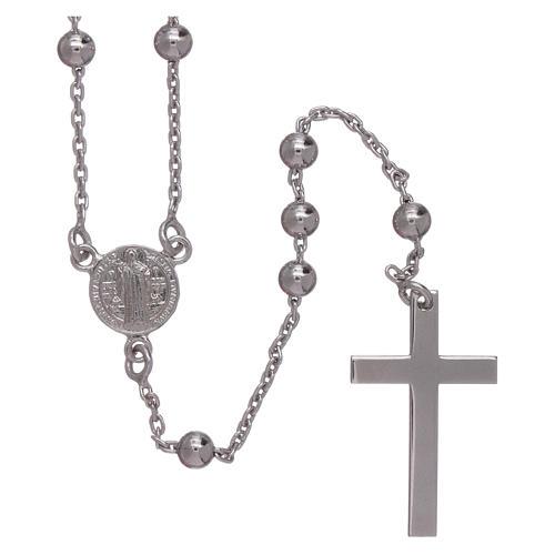 Chapelet classique Saint Benoît argent 925 grains 3 mm AMEN 1