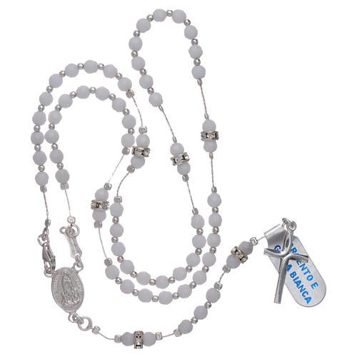 Rosario centenario Madonna di Fatima arg 925 e giada bianca 4