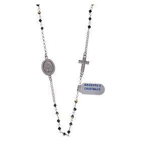 Rosario girocollo Madonna Miracolosa arg 925 e zirconi s2