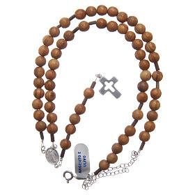 Rosenkranz für Mann Silber 925 Olivenholz Perlen s4