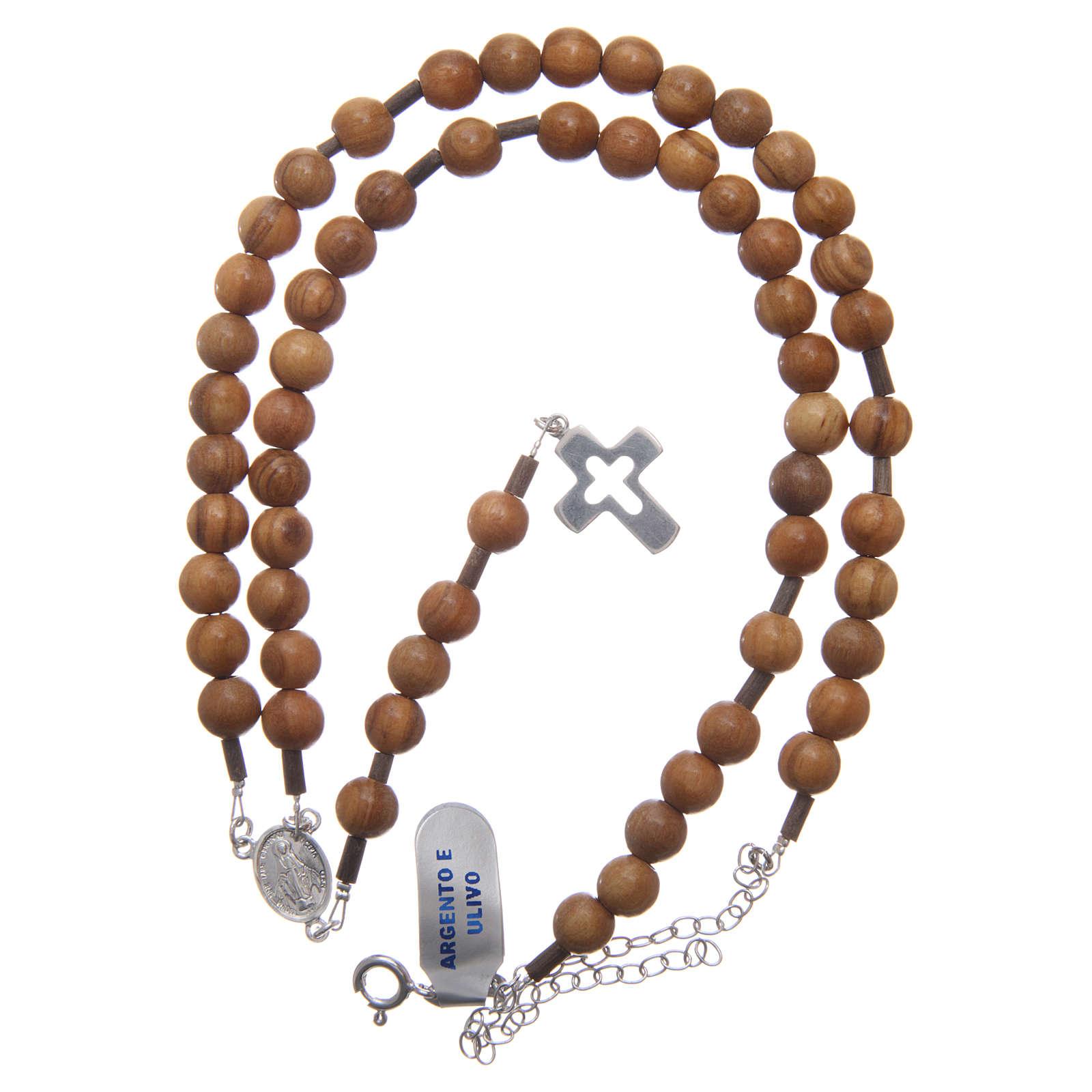 Rosario hombre olivo cruz plata 925 cable con cadena 4