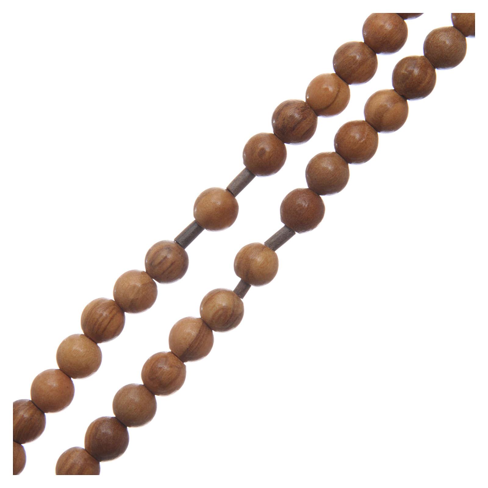 Chapelet homme olivier croix argent 925 câble avec chaîne 4