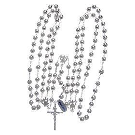 Rosario messicano del matrimonio argento 925 pallina lucida croce tronchetto s4