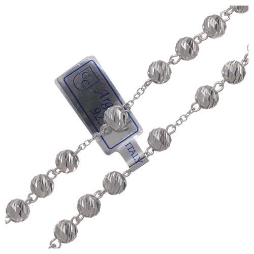 Rosario plata 925 granos 6 mm 3