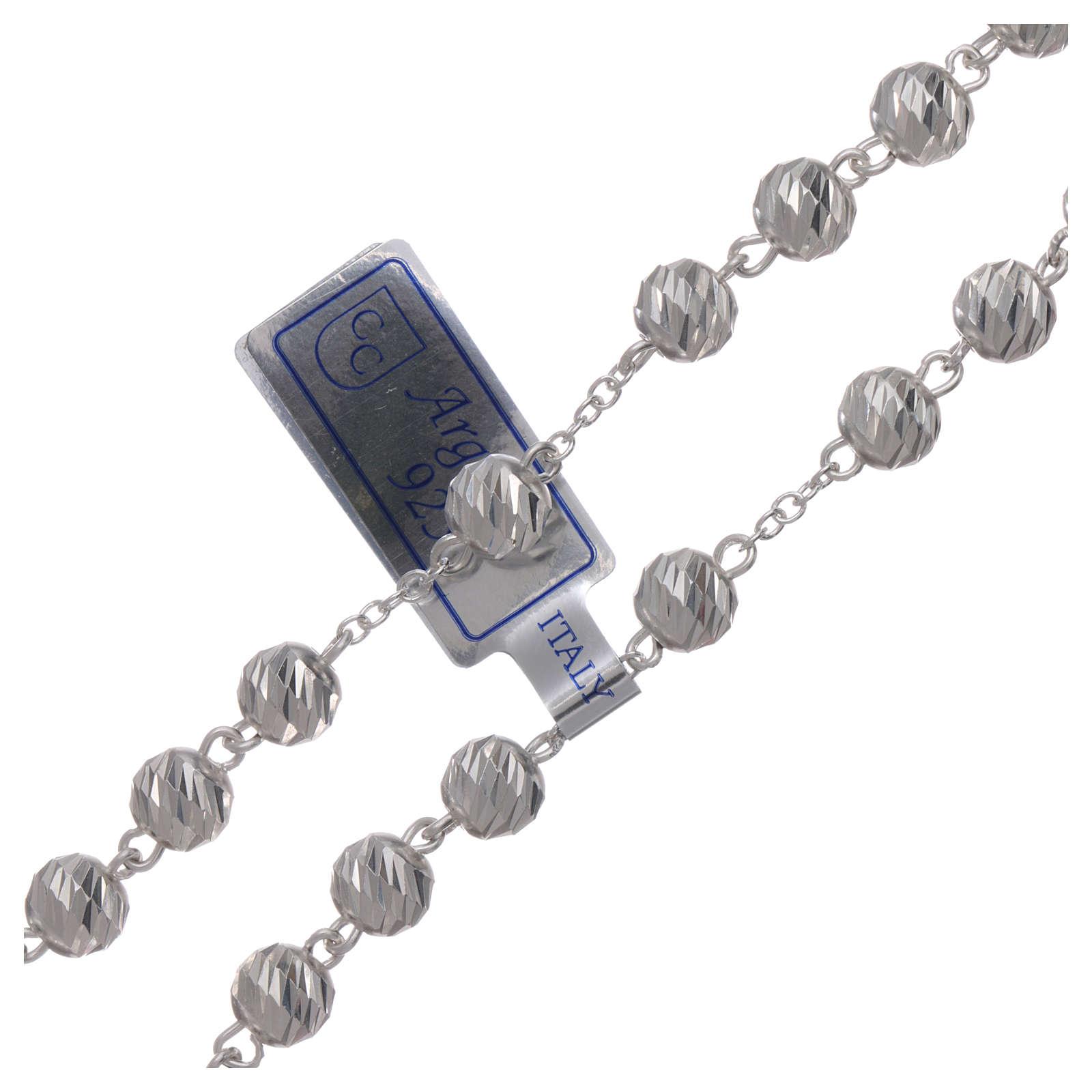Rosario argento 925 grani 6 mm 4