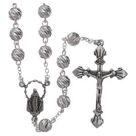 Sterling silver rosary 6 mm beads s1