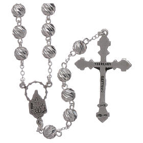 Sterling silver rosary 6 mm beads s2