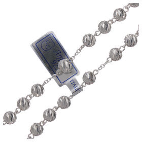 Sterling silver rosary 6 mm beads s3