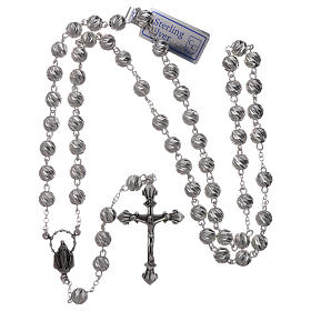 Sterling silver rosary 6 mm beads s4