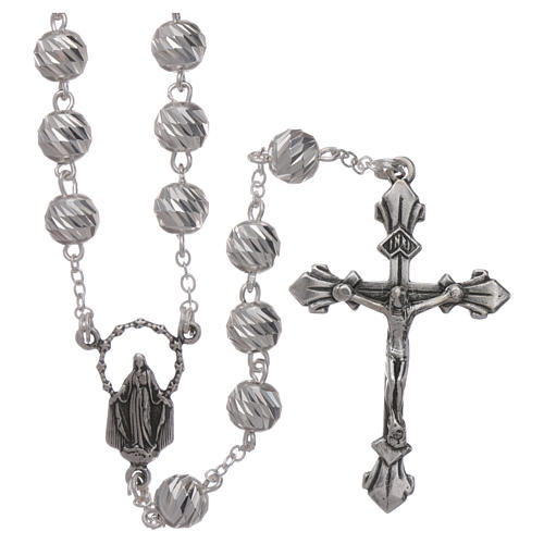 Sterling silver rosary 6 mm beads 1