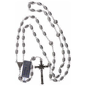 Rosary in 925 silver, wheat beads 7x5 mm s4