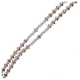 Rosario argento rosé e cristallo s3
