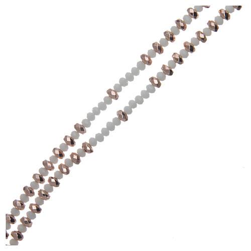 Rosario argento rosé e cristallo 3