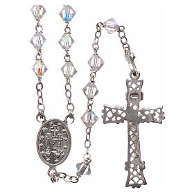 Silver rosary with iridescent Swarovski crystals s2