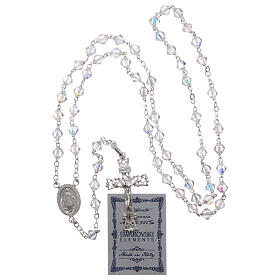 Silver rosary with iridescent Swarovski crystals s4