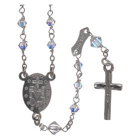 Rosary in 800 silver with transparent Swarovski crystals s2