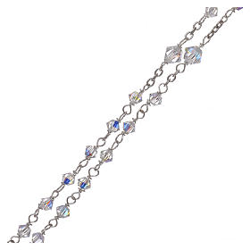 Rosary in 800 silver with transparent Swarovski crystals s3