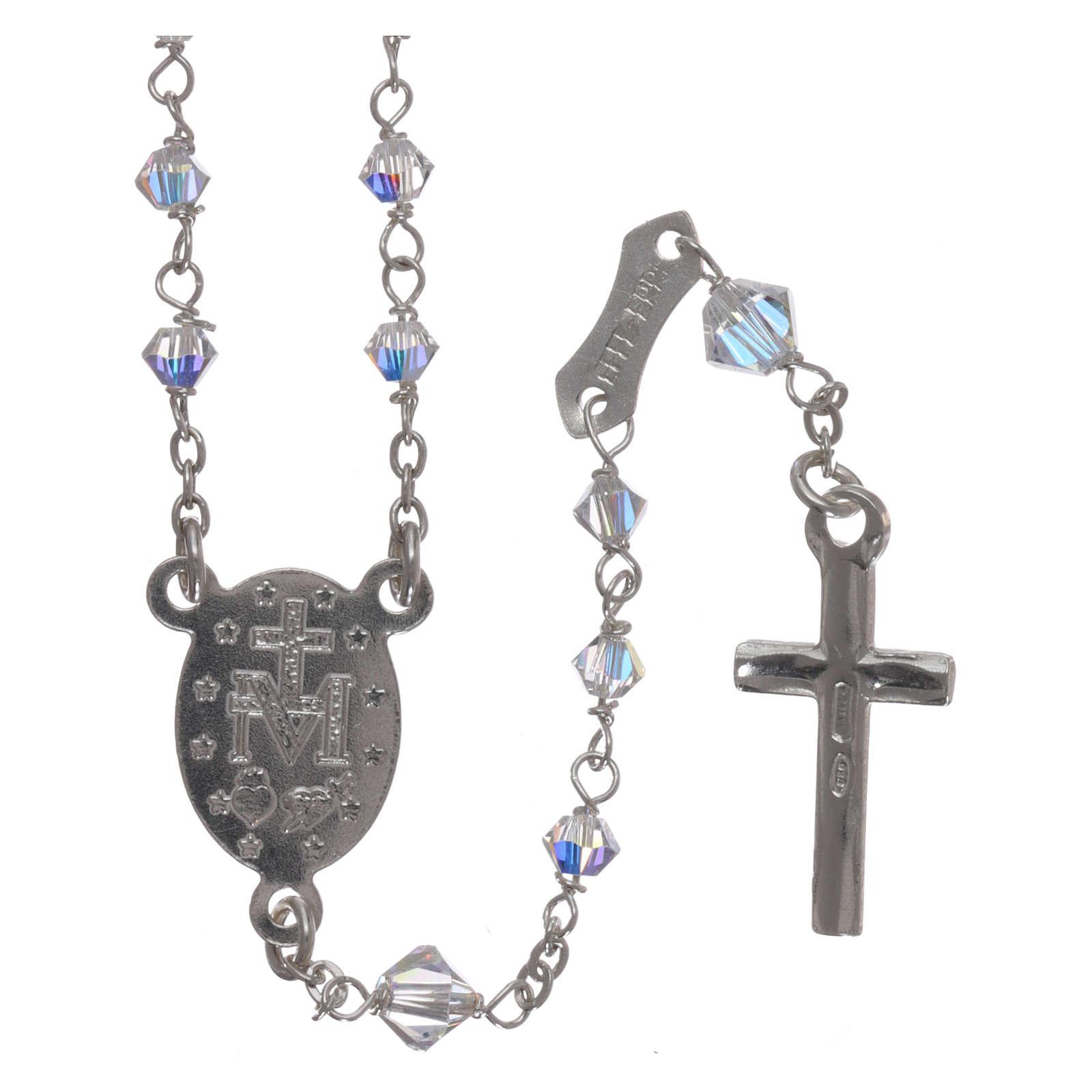 Rosario Swarovski trasparenti e argento 800 4