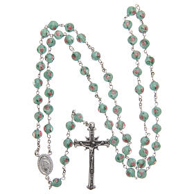 Glass rosary with roses and 925 silver chain s4