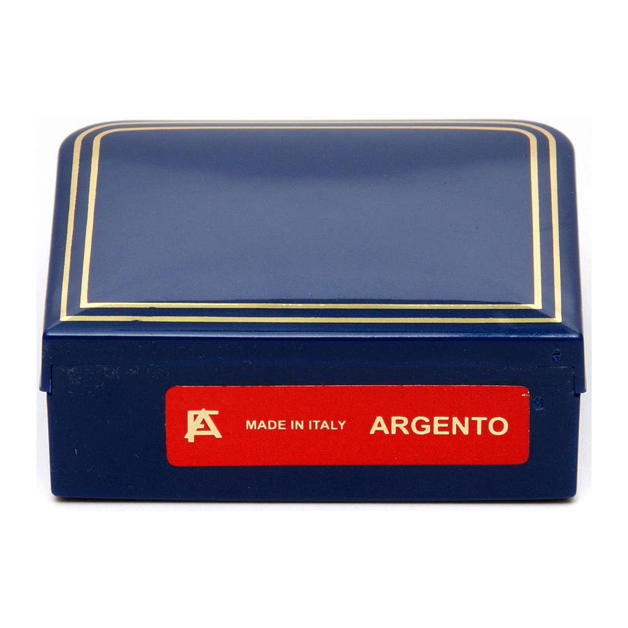 Rosario ágata azul 6 mm engarce plata 925 4
