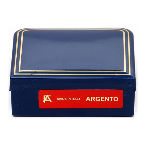 Chapelet agathe bleue 6 mm chaîne argent 925 5