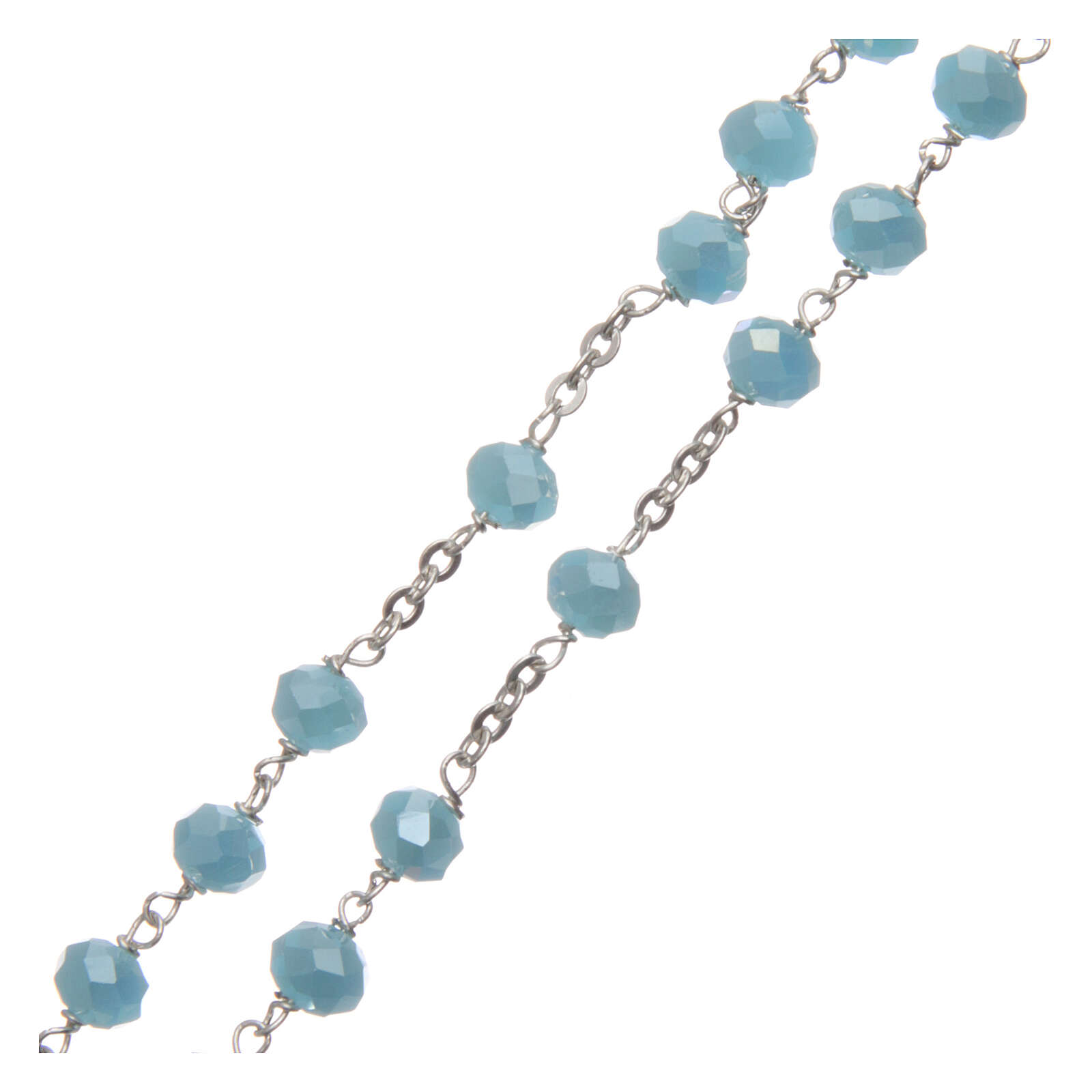 Crystal rosary with matte beads 6 mm 925 silver chain 4
