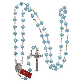 Crystal rosary with matte beads 6 mm 925 silver chain s4