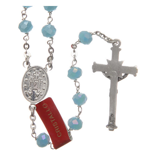 Crystal rosary with matte beads 6 mm 925 silver chain 2