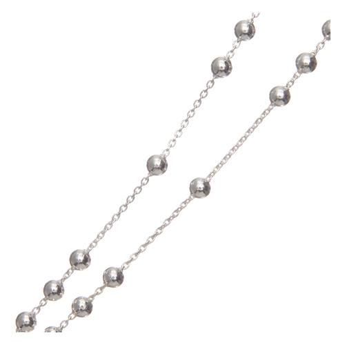 Rosario grani tondi argento 925 mm 4 3