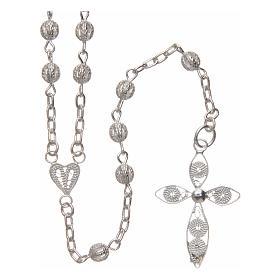 Terços Prata: Terço filigrana prata 925 4 mm