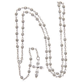 Filigree rosary round beads 4 mm 925 silver s4