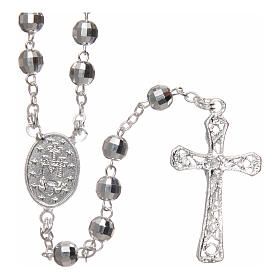 Rosary in 925 silver with 5mm beads s2