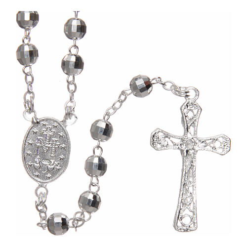 Rosary in 925 silver with 5mm beads 2