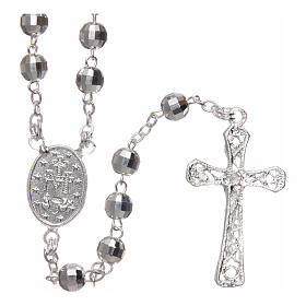 Silver rosary faceted beads 5 mm s2