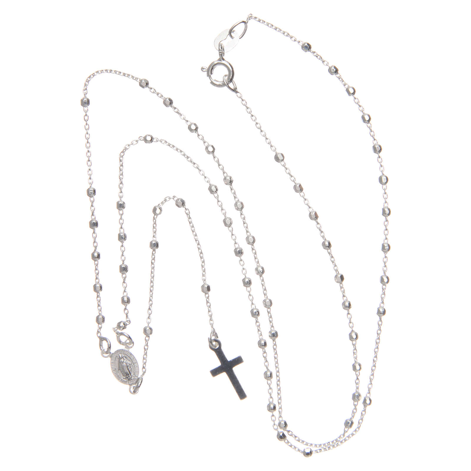 Rosary in 925 silver with faceted 2mm beads 4
