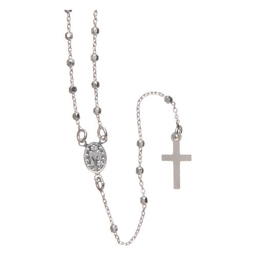 Rosary in 925 silver with faceted 2mm beads 2