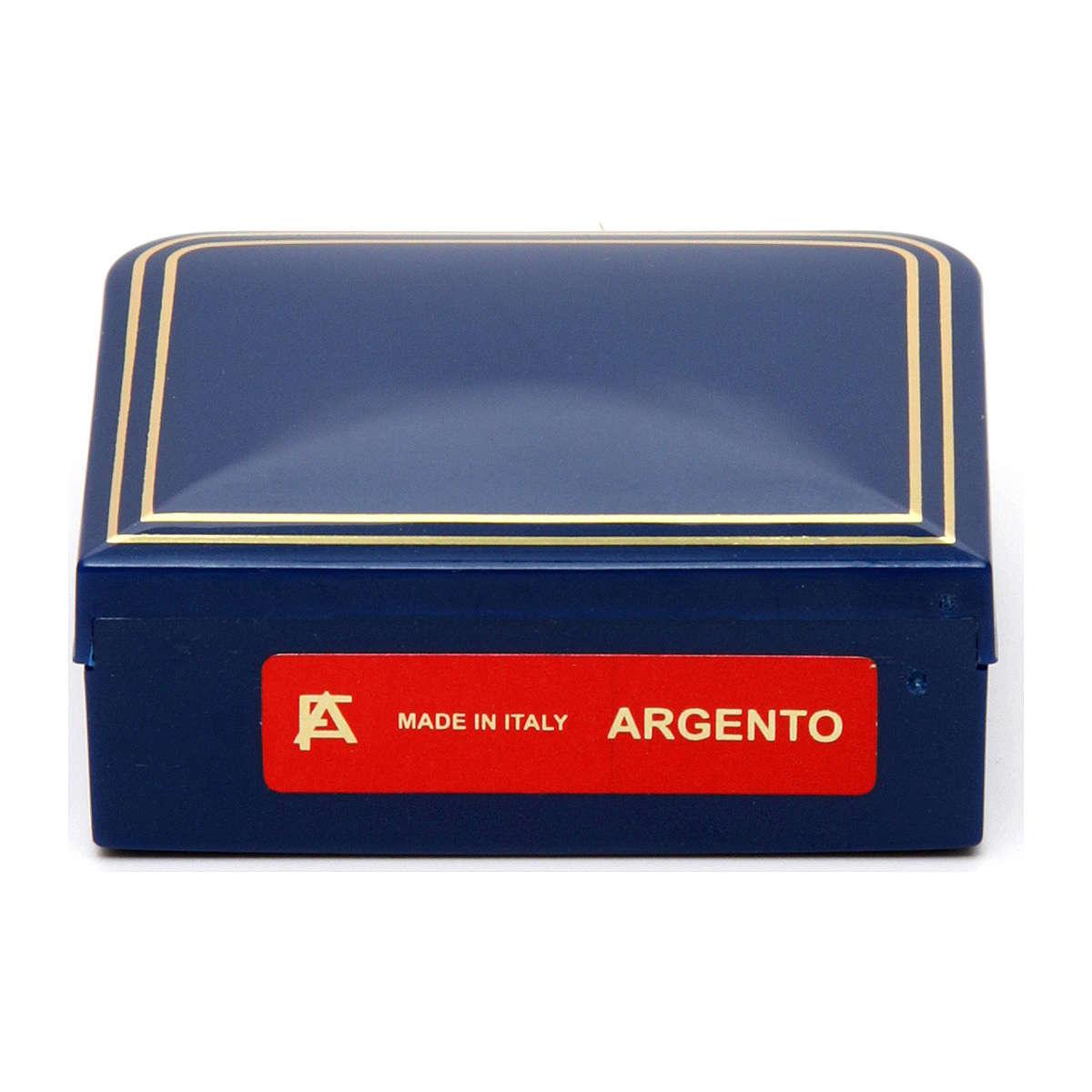 Rosario argento 925 grani sfaccettati tondi 2 mm 4