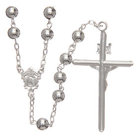 Rosary in 925 silver diameter 6 mm s2