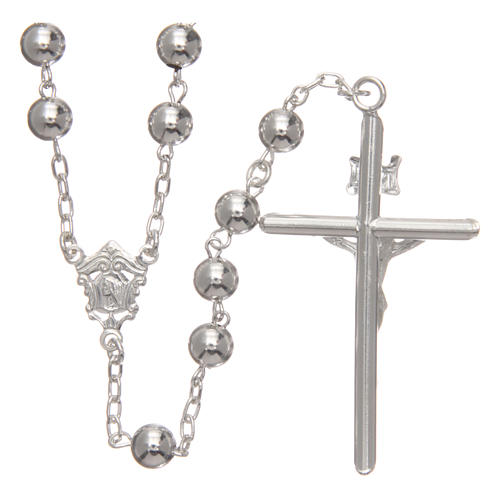 Rosary in 925 silver diameter 6 mm 2