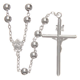 Rosary 925 silver round beads 6 mm s2
