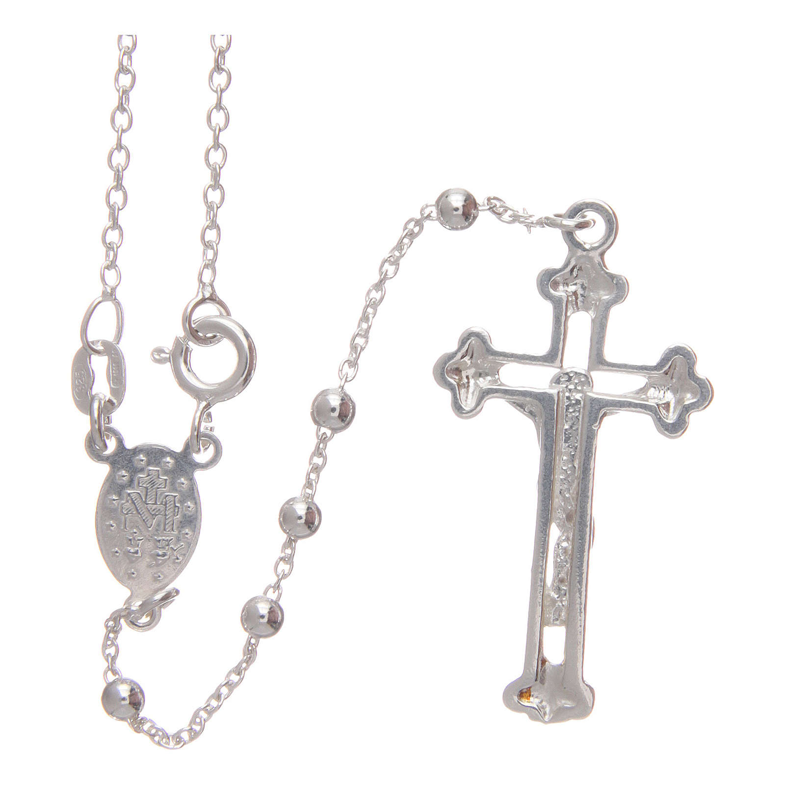 Rosary in 925 silver with snap hook 3 mm 4