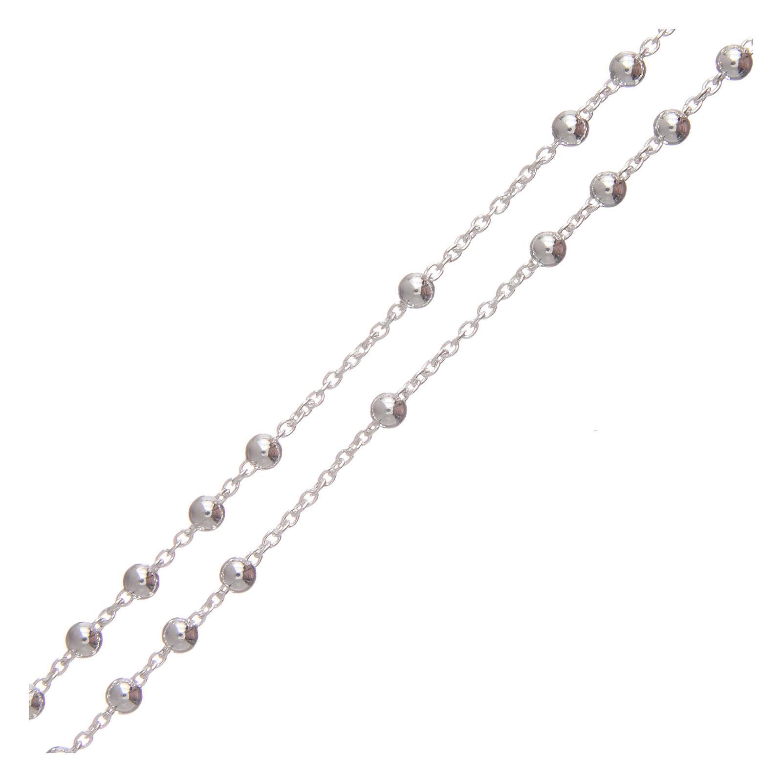 Rosario argento 925 moschettone 3 mm 4