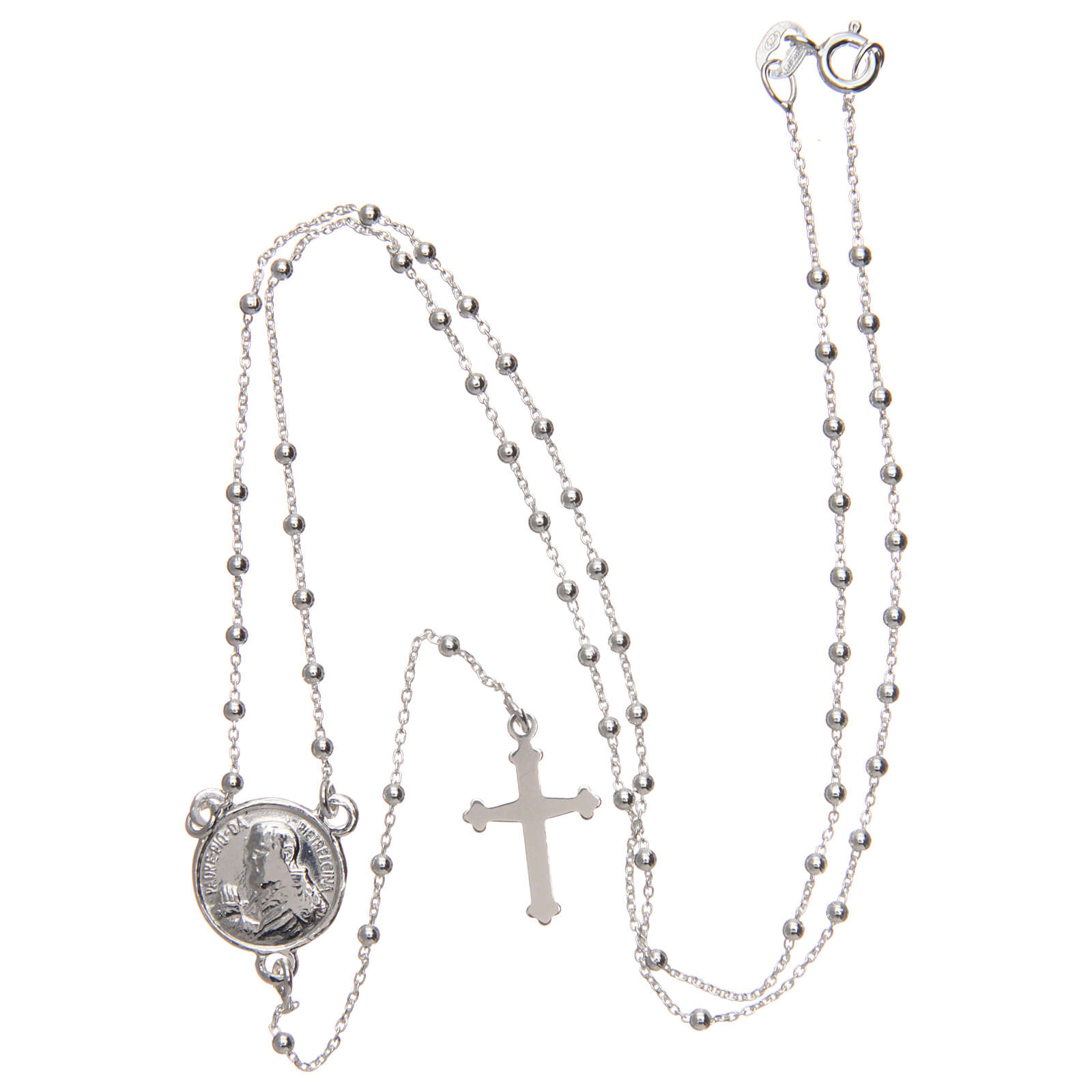 Rosary of Padre Pio in 925 silver diameter 1.5 mm 4