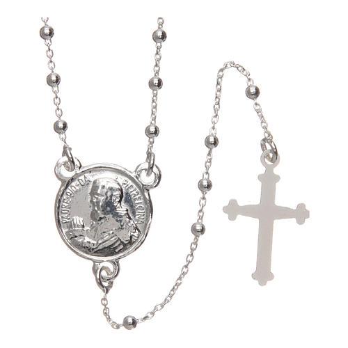 Rosary of Padre Pio in 925 silver diameter 1.5 mm 1