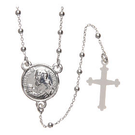 Rosario Padre Pío plata 925 diámetro 1,5 mm s1