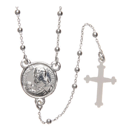 Rosario Padre Pío plata 925 diámetro 1,5 mm 1